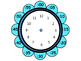 Flower Clocks with Minute Petals to help teach time