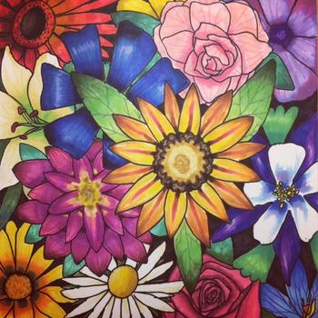 Flower Collage Background