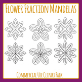 Flower Color In Fraction Mandelas Clip Art Set for Commercial Use