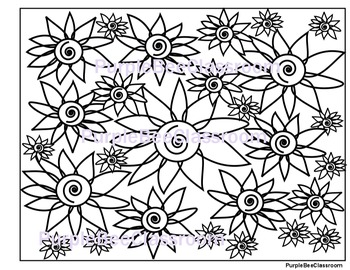 Flower Coloring Page #5