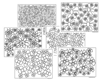 Spring Coloring Pages-Spring Flowers- Set 1