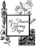 Flower Coloring Pages for Spring, STEM, and Earth Day and Back to School