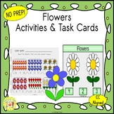 Flowers Count and Clip Task Cards