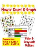 Flower Count & Graph  - Common Core Measurement & Data
