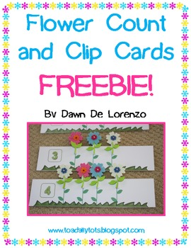 Flower Count and Clip Cards {FREEBIE!}