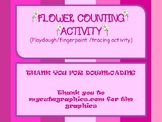 Flower Counting Activity (Playdough and tracing activity)