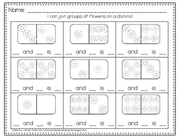 Flower Dominoes; Use For Addition, Joining Groups & Fact Families!  CC Aligned!