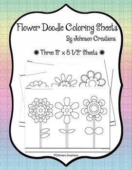 Flower Doodle Coloring Sheets