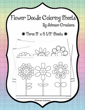 Flower Doodle Coloring Sheets