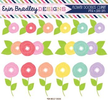 Flower Doodles Clipart