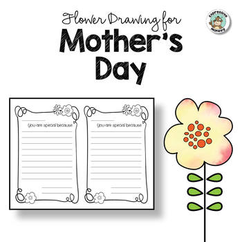 Flower Drawing for Mother's Day