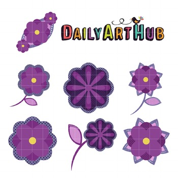 Flower Elements Clip Art - Great for Art Class Projects!