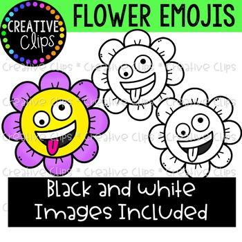 Flower Emoji Clipart  {Spring Clipart}