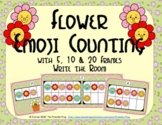 Flower Emoji Counting with 5, 10 & 20 Frames {Subitizing}