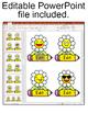 Flower Emoji Name Tags Labels - Classroom Decor