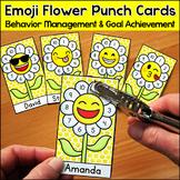 Flower Emoji Theme Punch Cards Behavior Management & Goal Achievement Tool