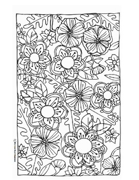 Flower Explosion Coloring Page