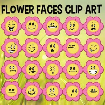 Flower Face Clip art, Spring and Summer, Daisy, Flower Emoji, Flower Emoticons