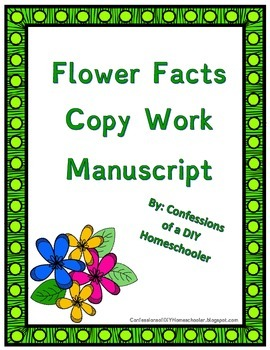 Flower Fact Copy Work