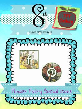 Flower Fairy Social Icons