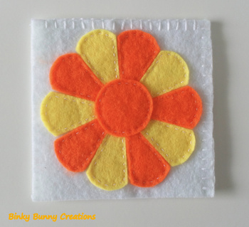 Flower Felt Sewing Craft Templates & Directions