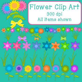 *Freebie* Flower/Flower Bunches Clip Art - 23 pieces - 300 dpi Commercial Use OK