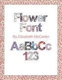 Font Clip Art: Flowers