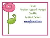 Flower Fraction Percent Decimal Shuffle