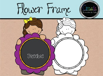 Flower Frame {FREEBIE} - Digital Clipart