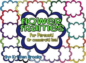 Flower Frame Pack (18 Colorful Frames)