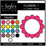 Flower Frames 1 Clipart {A Hughes Design}