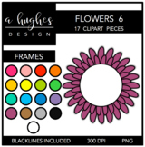 Flower Frames 6 Clipart {A Hughes Design}