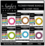 Flower Frames Clipart Bundle {A Hughes Design}