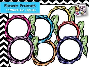 Flower Frames Clip Art