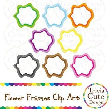 [Free] Flower Frames Clip Art