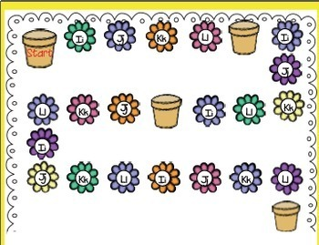 Flower Fun Math and Literacy Centers