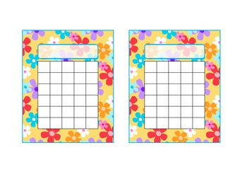 Flower Fun Printable Incentive Chart