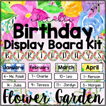 Flower Garden Birthday Display Kit