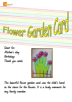 Flower Garden Card - Mothers Day, Fathers Day, Birthday, Thank you