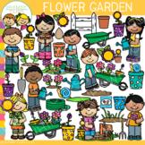 Flower Garden Clip Art {Whimsy Clips Spring Clip Art}