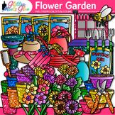 Flower Garden Clip Art   Seeds, Pots, & Gardening Tools for Spring Activities