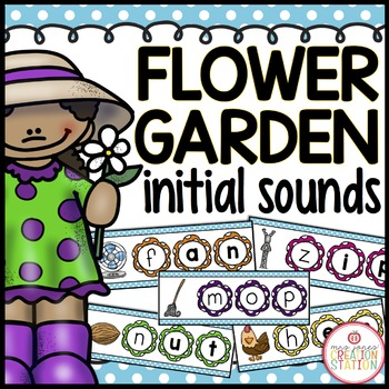 Flower Garden Initial Sound FREE Literacy Center