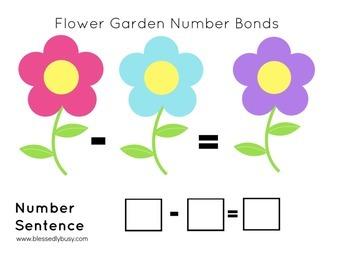 Flower Garden Number Bond Mats