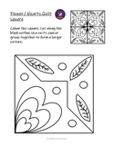 Flower Hearts Colouring Quilt Square