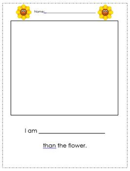 Flower Height Comparison Writing