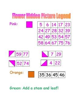 Flower Hidden Picture (Hundreds Board Activity)