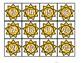 Sun Hundreds Chart Summer Number Cards