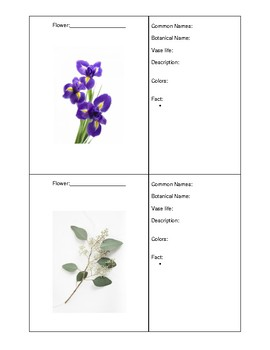 Flower ID Booklet