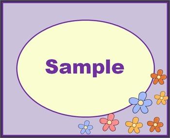 Flower Label