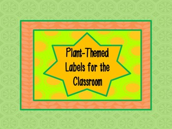 Flower Labels : for nametags, stations, and other goodies, sunflowers